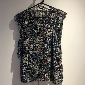 Rebecca Minkoff floral cold shoulder tank